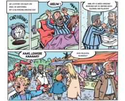 Kaaswielen strip pagina markt
