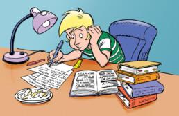 kaasboer illustratie student