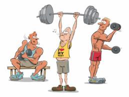 nieuwsblad illustratie fitness