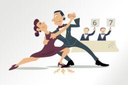 technopolis illustratie dansers