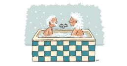 Geberit WC kalender cartoon bad