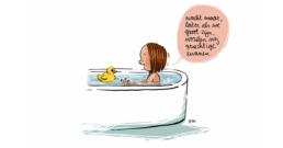 Geberit WC kalender cartoon badeend