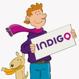 Indigo Park mascottes