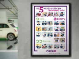 Indigo poster gedragsregels openbare weg