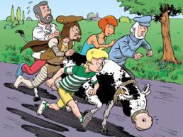 kaaswielen stripverhaal detail