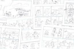 sandoz stripverhaal storyboard