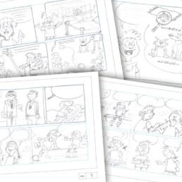 stripverhaal storyboard