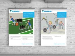 Daikin posters veiligheid productie